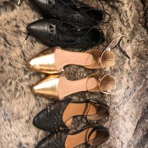 3 PAIRS CR FLATS! GREAT DEAL!
